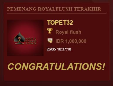 Jackpot Winner Asia Poker Indo